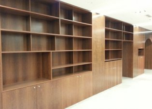 Sucupira veneer shelf